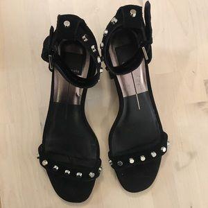 Dolce vita black chunky heel strapy sandal